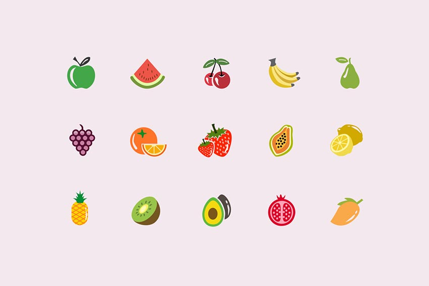 15 Fruit Icons and Graphics