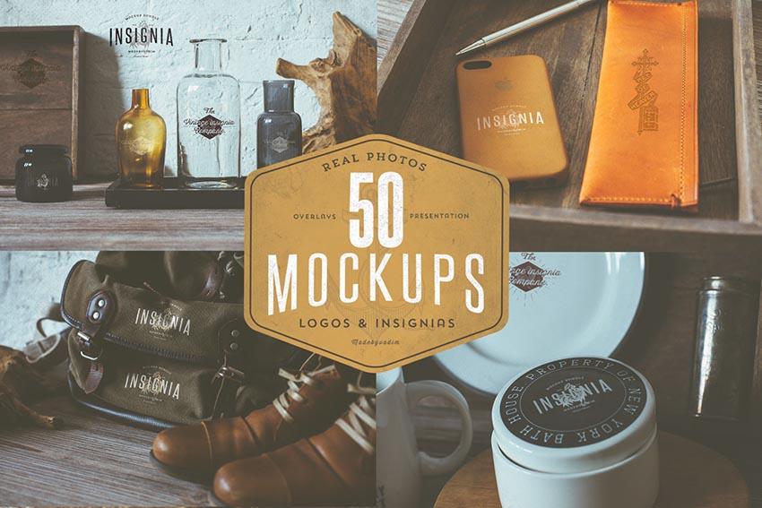 50 Hip Logo Overlay Mock-Ups