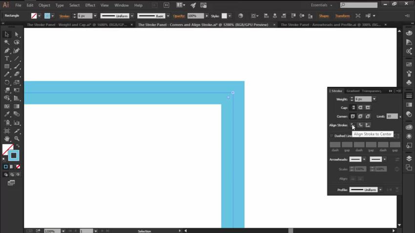 The Align Stroke Option in Adobe Illustrators Stroke Panel