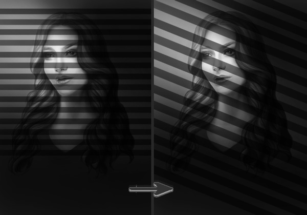 Draw Lines for Blinds Lighting Effect in Adobe Photoshop