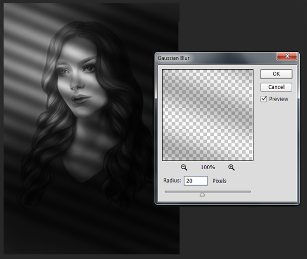 Blur Lines using Gaussian Blur Filter