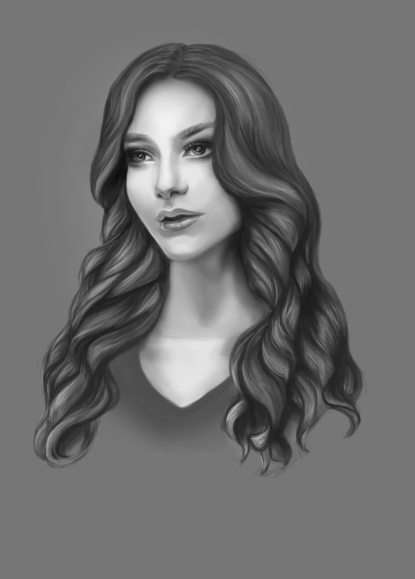 How to Light Digital Painting Portraits Art by Melody Nieves
