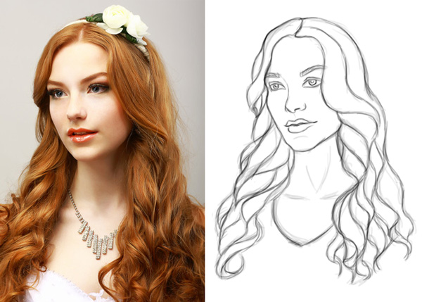 Create a Digital Sketch Based on a Reference in Photoshop