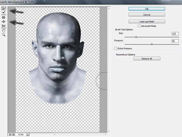 Using Liquify to Retouch a Face in Photoshop