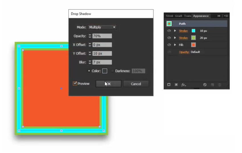 The Appearance Panel in Adobe Illustraor