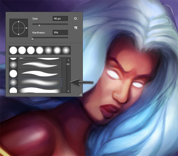 Use Soft Photoshop Brushes to Paint Skin