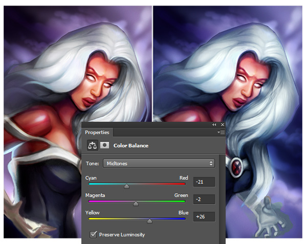 Use Color Balance to Adjust the Colors in a Digital Painting