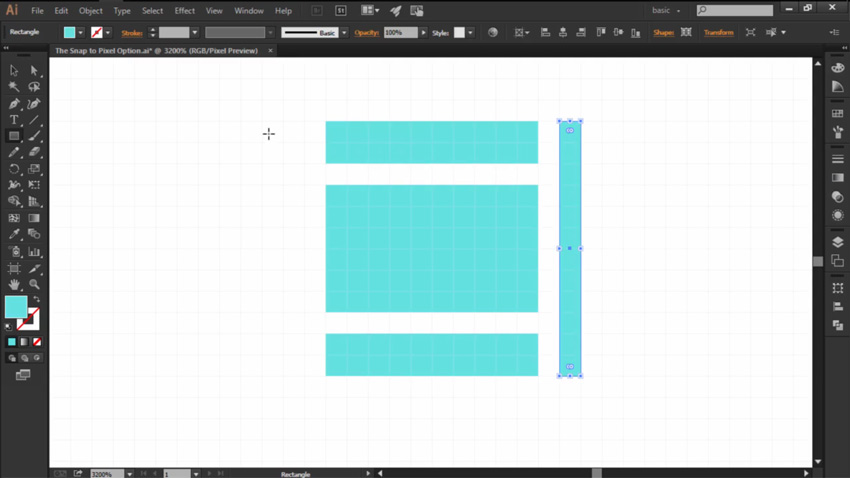 Using the Snap to Pixel Option in Adobe Illustrator