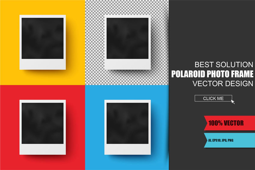 Polaroid Photo Template
