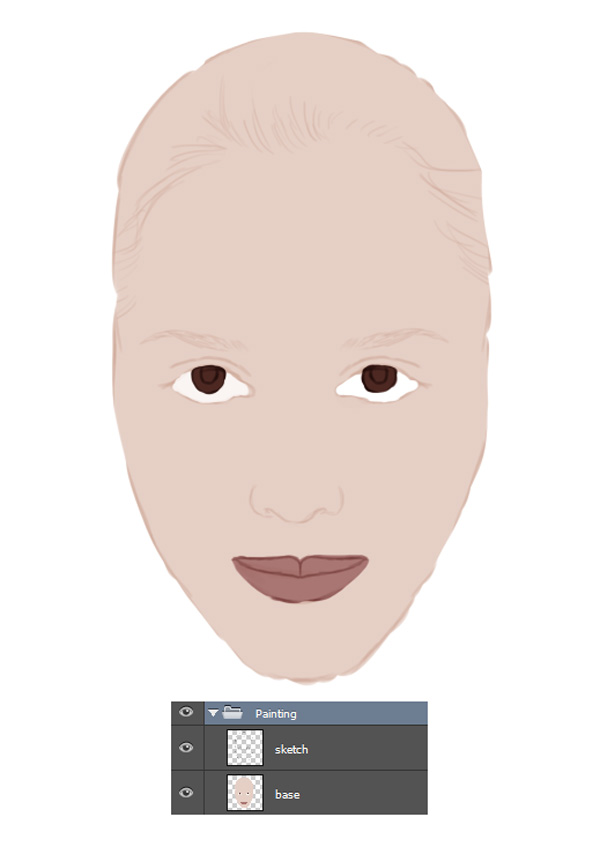Painting a Face Flat Colors