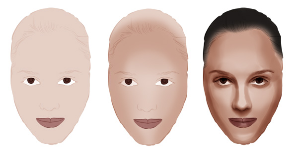 Shading Faces in Adobe Photoshop