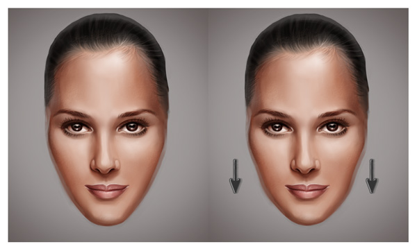 Use Liquify to Age the Face