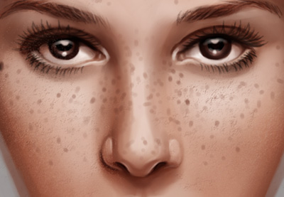 how to paint realistic skin wrinkles freckles and scars