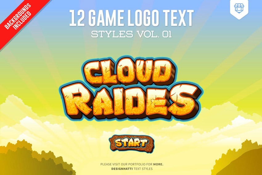 Game Logo Text Effects