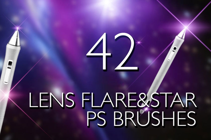 Lens Flare  Stars Photoshop Brushes