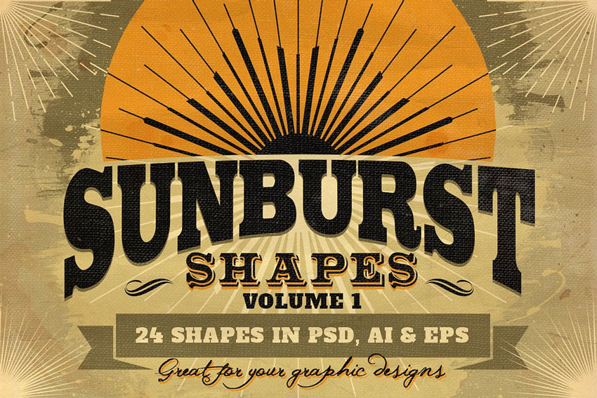 Sunbursts Shapes Vol1