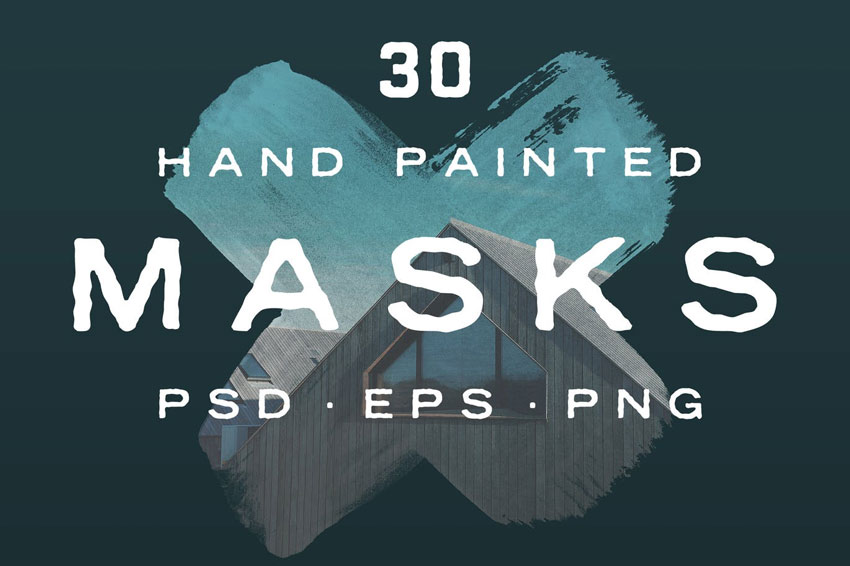 Hand Painted Photo Mask Shapes