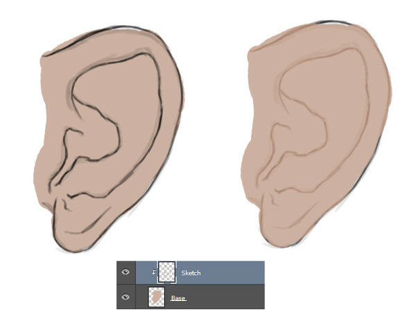 Painting an Ears Base Color