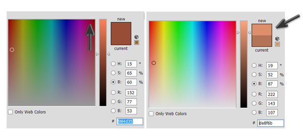 Changing Color Tones with Color Picker