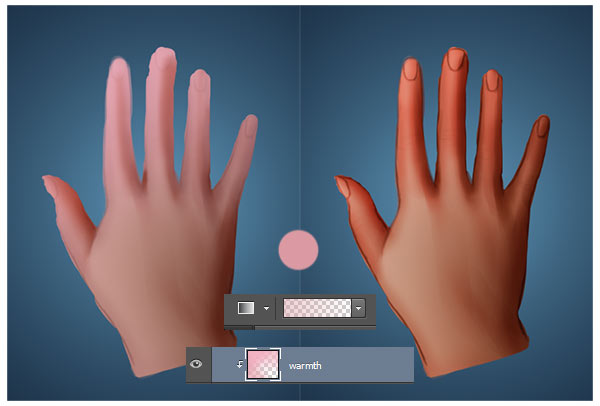 Use the Gradient Tool to Paint a Hand