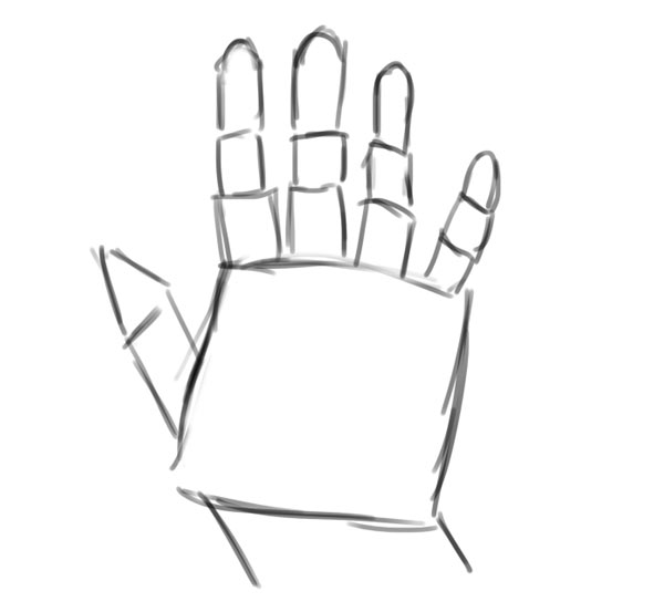 How to Draw a Hand With Shapes