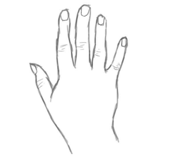 Drawing a Realistic Hand From Scratch
