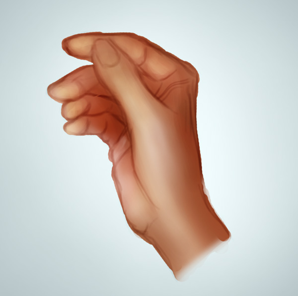 Painting Hand Highlights in Photoshop