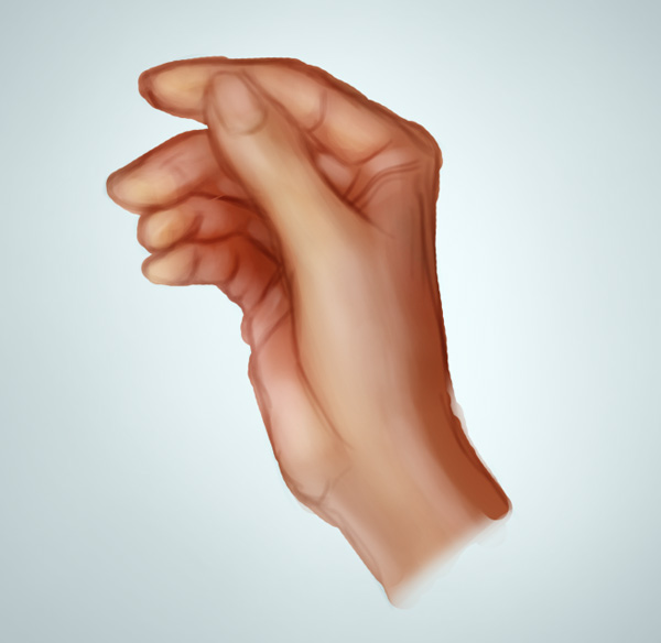 Painting Realistic Highlights on a Hand