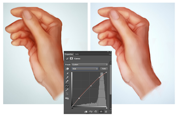 Color Correct Skin with Curves