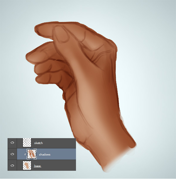 How to Shade Hands in Photoshop