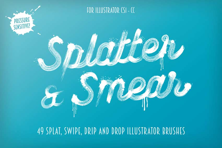 Splatter  Smear Illustrator Brushes