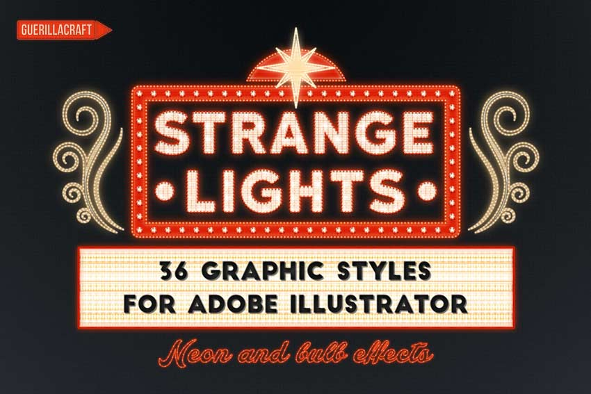 Strange Lights for Adobe Illustrator