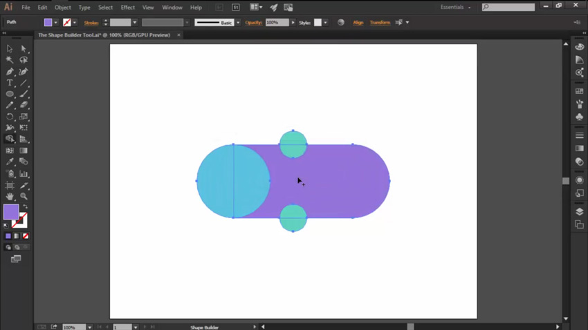Using Merge for the Shape Builder Tool