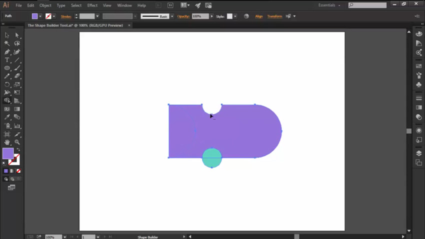 Using Erase for the Shape Builder Tool