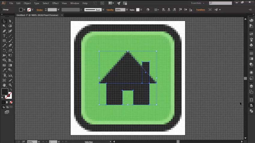 Create the House for the Home Button