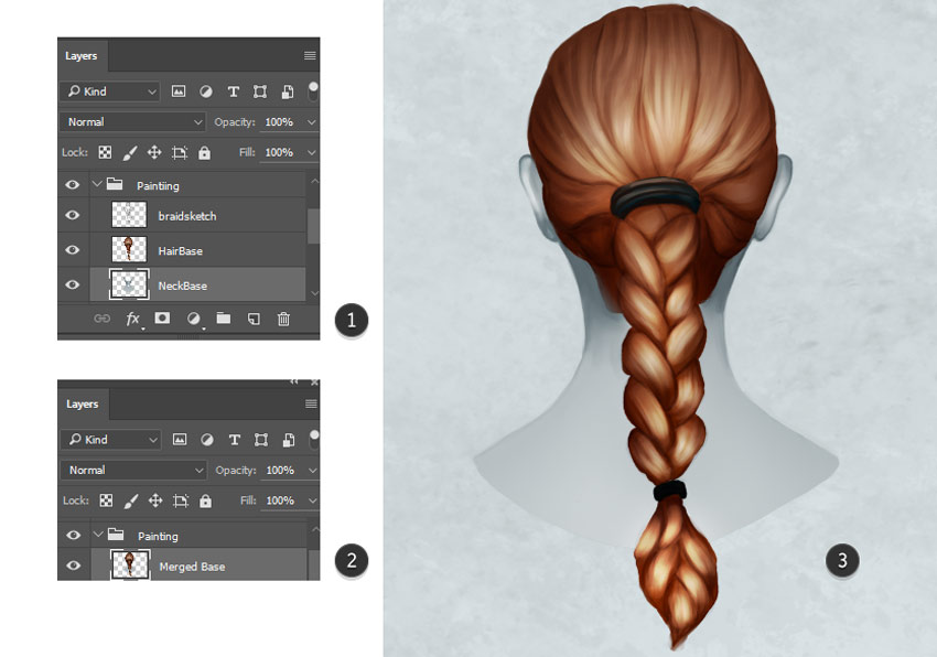 Clean up the Braided Hairstyle in Photoshop