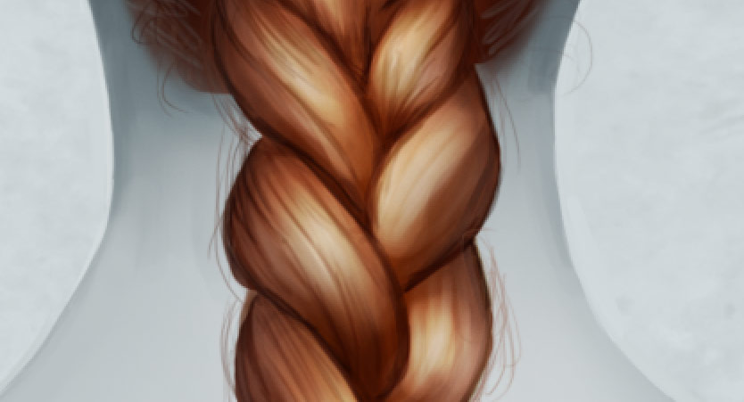 Drawing Wispy Hair Strands in Photoshop