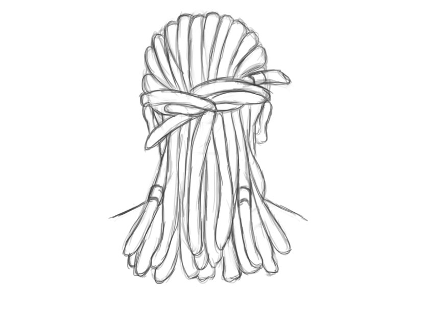 Dreadlocks Sketch in Adobe Photoshop
