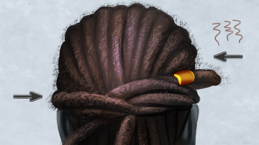 Painting Highlights on Tangled Dreadlocked Hair in Photoshop