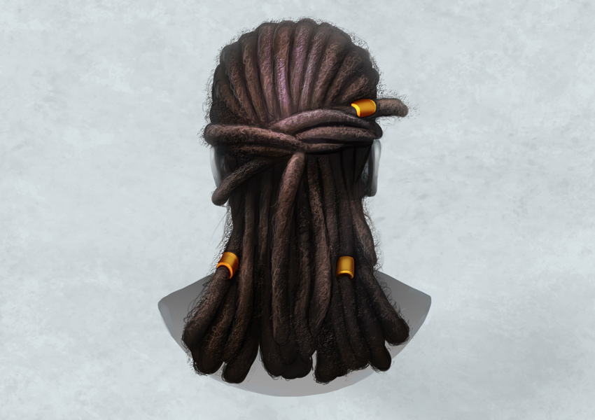 How to Draw and Paint Dreadlocks by Melody Nieves