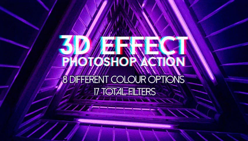 3D Effects Photoshop Action