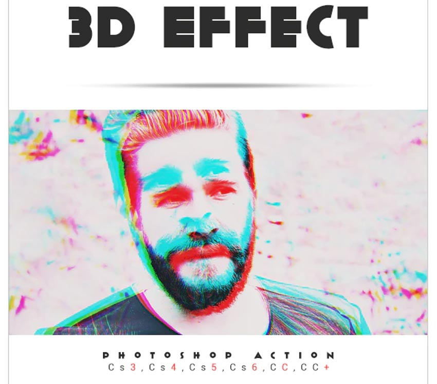 3D Effect Photoshop Action