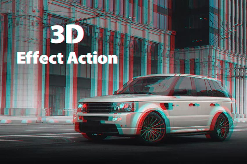 3D Effect Photoshop Actions