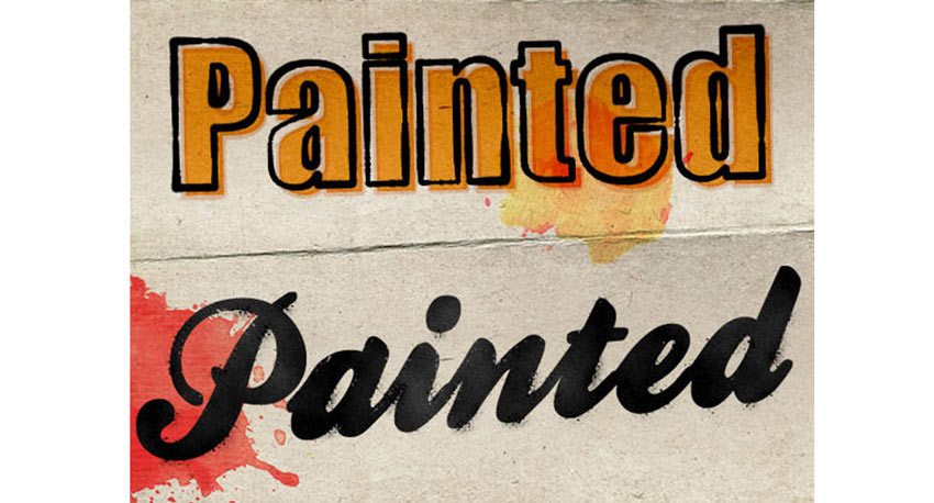 Painted Photoshop Text Effects