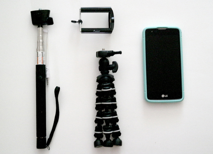 Tools for Periscope Tripod Selfie Stick and Phone
