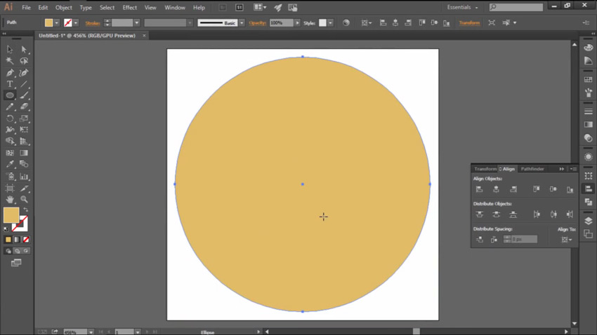 Create a Center Yellow Circle