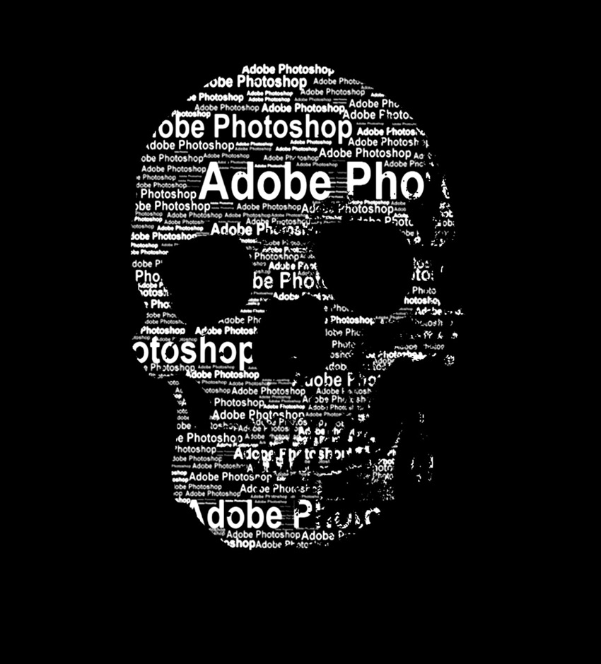 Photoshop in 60 Seconds: How to Create a Text Portrait