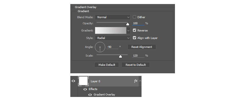 Create a Gradient Overlay for the Background
