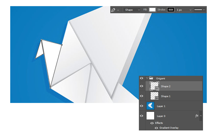 Create Origami Shapes with the Pen Tool
