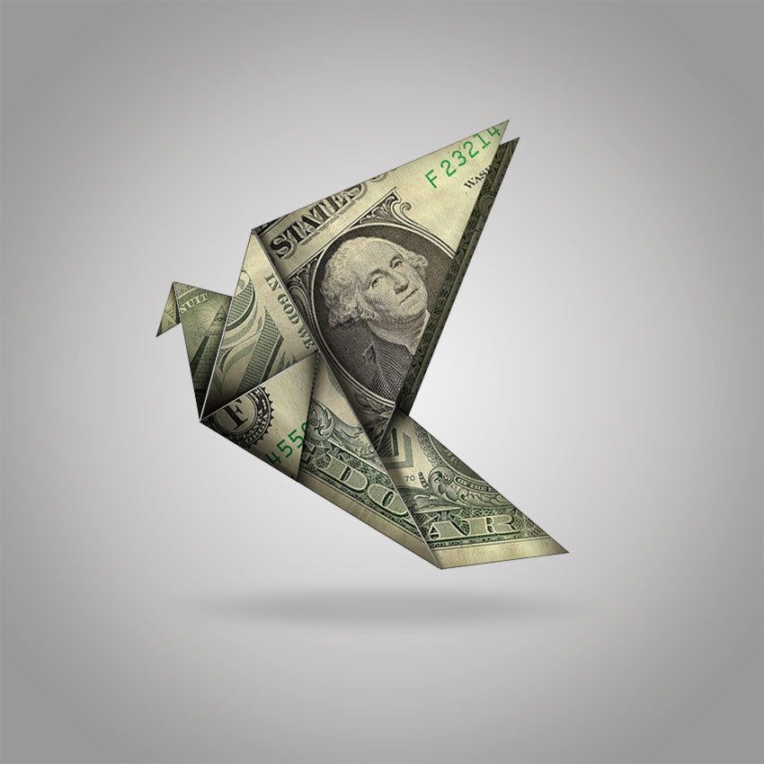 Money Origami Photoshop Effect Tutorial by Melody NIeves